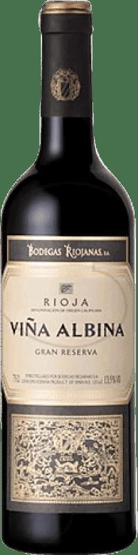9,95 € Envío gratis | Vino tinto Bodegas Riojanas Viña Albina Gran Reserva D.O.Ca. Rioja La Rioja España Tempranillo, Graciano, Mazuelo, Cariñena Botella 75 cl