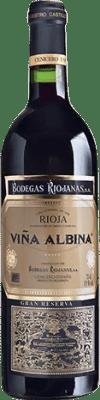 18,95 € Free Shipping   Red wine Bodegas Riojanas Viña Albina Gran Reserva D.O.Ca. Rioja The Rioja Spain Tempranillo, Graciano, Mazuelo, Carignan Magnum Bottle 1,5 L