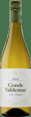 5,95 € Kostenloser Versand | Weißwein Valdemar Conde de Valdemar Joven D.O.Ca. Rioja La Rioja Spanien Tempranillo, Macabeo, Verdejo, Sauvignon Weiß Flasche 75 cl