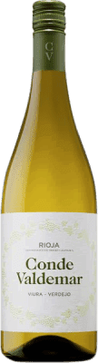 5,95 € Free Shipping | White wine Conde de Valdemar Joven D.O.Ca. Rioja The Rioja Spain Tempranillo, Macabeo, Verdejo, Sauvignon White Bottle 75 cl