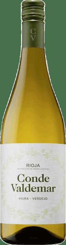 6,95 € Envoi gratuit | Vin blanc Valdemar Conde de Valdemar Joven D.O.Ca. Rioja La Rioja Espagne Tempranillo, Macabeo, Verdejo, Sauvignon Blanc Bouteille 75 cl