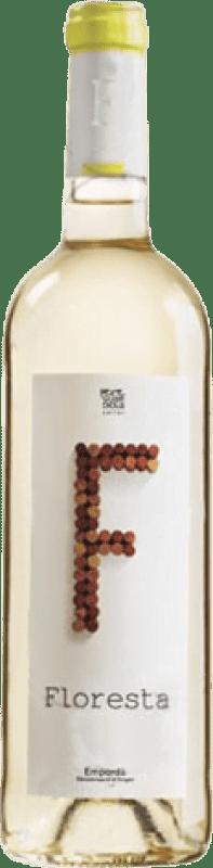 4,95 € Envío gratis | Vino blanco Pere Guardiola Floresta Joven D.O. Empordà Cataluña España Garnacha Blanca, Macabeo, Xarel·lo, Chardonnay, Sauvignon Blanca Botella 75 cl