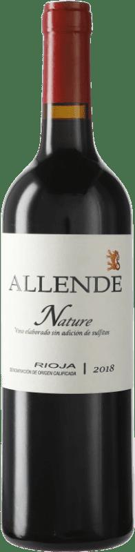19,95 € Envío gratis | Vino tinto Allende Nature Joven D.O.Ca. Rioja La Rioja España Tempranillo Botella 75 cl