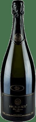 31,95 € Kostenloser Versand | Weißer Sekt Huguet de Can Feixes Brut Natur Gran Reserva D.O. Cava Katalonien Spanien Pinot Schwarz, Macabeo, Parellada Magnum-Flasche 1,5 L