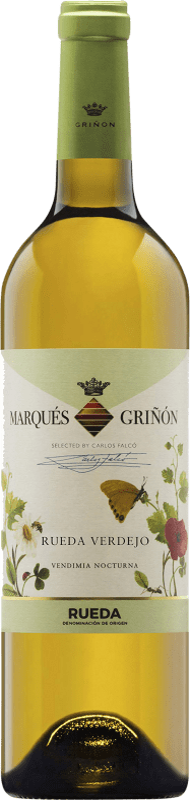 7,95 € Envío gratis | Vino blanco Marqués de Griñón Joven D.O. Rueda Castilla y León España Verdejo Botella 75 cl