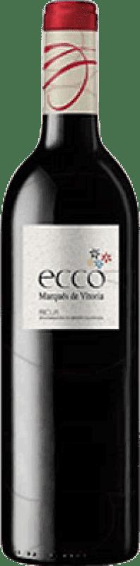 4,95 € Free Shipping | Red wine Marqués de Vitoria Ecco Joven D.O.Ca. Rioja The Rioja Spain Tempranillo Bottle 75 cl