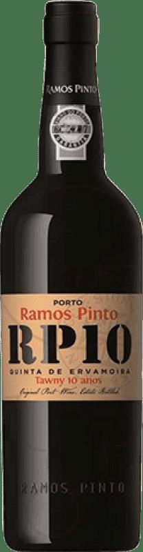 29,95 € Free Shipping | Fortified wine Ramos Pinto Tawny 10 Años Oporto I.G. Porto Portugal Tempranillo, Touriga Franca, Touriga Nacional, Tinta Amarela, Tinta Cão, Tinta Barroca Bottle 75 cl