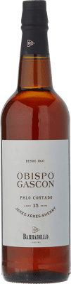 35,95 € Free Shipping | Fortified wine Barbadillo Obispo Gascón Palo Cortado D.O. Jerez-Xérès-Sherry Andalucía y Extremadura Spain Palomino Fino Bottle 75 cl | Thousands of wine lovers trust us to get the best price guarantee, free shipping always and hassle-free shopping and returns.