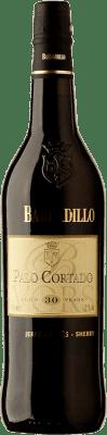 102,95 € Envio grátis | Vinho fortificado Barbadillo 30 Años Palo Cortado D.O. Jerez-Xérès-Sherry Andalucía y Extremadura Espanha Palomino Fino Garrafa 75 cl
