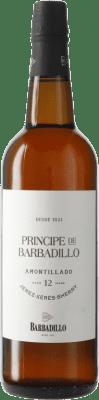 18,95 € Kostenloser Versand | Verstärkter Wein Barbadillo Príncipe Amontillado D.O. Jerez-Xérès-Sherry Andalucía y Extremadura Spanien Flasche 75 cl