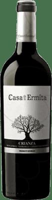 7,95 € Envío gratis | Vino tinto Casa de la Ermita Crianza D.O. Jumilla Levante España Tempranillo, Cabernet Sauvignon, Monastrell Botella 75 cl