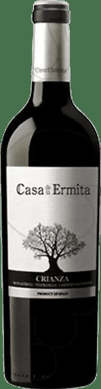 7,95 € Free Shipping | Red wine Casa de la Ermita Crianza D.O. Jumilla Levante Spain Tempranillo, Cabernet Sauvignon, Monastrell Bottle 75 cl