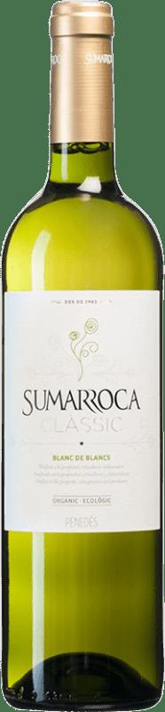 4,95 € Free Shipping | White wine Sumarroca Clàssic Blanc de Blancs Joven D.O. Penedès Catalonia Spain Muscat, Macabeo, Xarel·lo, Chardonnay, Parellada Bottle 75 cl