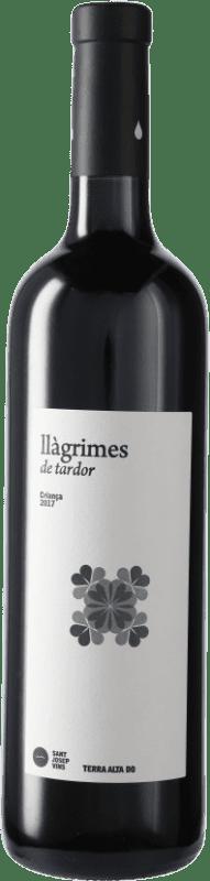 7,95 € Envío gratis | Vino tinto Sant Josep Llagrimes de Tardor Negre Crianza D.O. Terra Alta Cataluña España Tempranillo, Syrah, Garnacha, Mazuelo, Cariñena Botella 75 cl