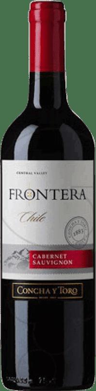 4,95 € Free Shipping | Red wine Concha y Toro Frontera Chile Cabernet Sauvignon Bottle 75 cl