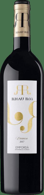 5,95 € Free Shipping | Red wine Oliveda Rigau Ros Negre Crianza D.O. Empordà Catalonia Spain Tempranillo, Grenache, Cabernet Sauvignon Bottle 75 cl