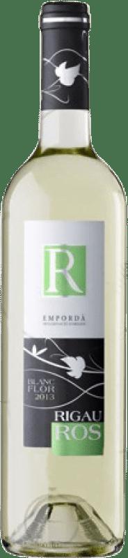 4,95 € Envío gratis | Vino blanco Oliveda Rigau Ros Joven D.O. Empordà Cataluña España Macabeo, Chardonnay, Sauvignon Blanca Botella 75 cl