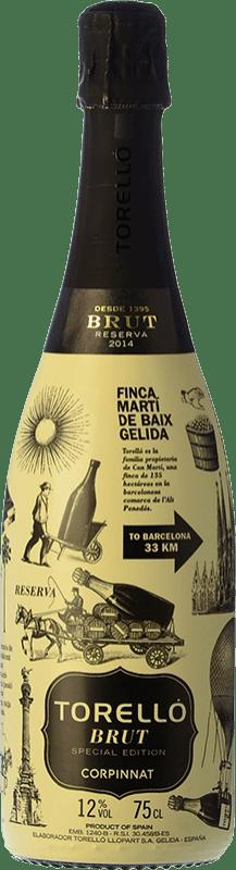 16,95 € Free Shipping | White sparkling Torelló Edicion Especial Brut Reserva D.O. Cava Catalonia Spain Macabeo, Xarel·lo, Parellada Bottle 75 cl