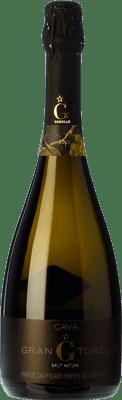 24,95 € Kostenloser Versand | Weißer Sekt Torelló Brut Natur Gran Reserva D.O. Cava Katalonien Spanien Macabeo, Xarel·lo, Parellada Flasche 75 cl