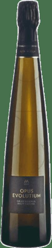 28,95 € Free Shipping | White sparkling Alta Alella Privat Opus Evolutium Brut Nature Gran Reserva D.O. Cava Catalonia Spain Pinot Black, Chardonnay Bottle 75 cl