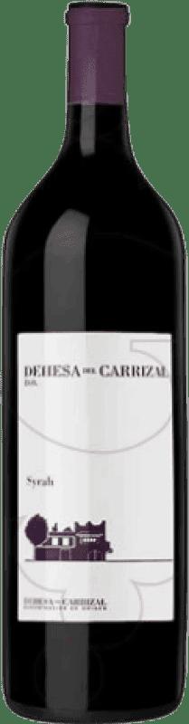 21,95 € Free Shipping | Red wine Dehesa del Carrizal Crianza D.O.P. Vino de Pago Dehesa del Carrizal Castilla la Mancha y Madrid Spain Syrah Magnum Bottle 1,5 L
