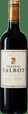 91,95 € Free Shipping | Red wine Château Talbot A.O.C. Bordeaux France Merlot, Cabernet Sauvignon, Petit Verdot Bottle 75 cl