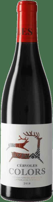 9,95 € Free Shipping | Red wine Cérvoles Colors D.O. Costers del Segre Catalonia Spain Tempranillo, Syrah, Grenache Bottle 75 cl