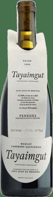 15,95 € Envoi gratuit | Vin rouge Tayaimgut Crianza Catalogne Espagne Cabernet Sauvignon Bouteille 75 cl
