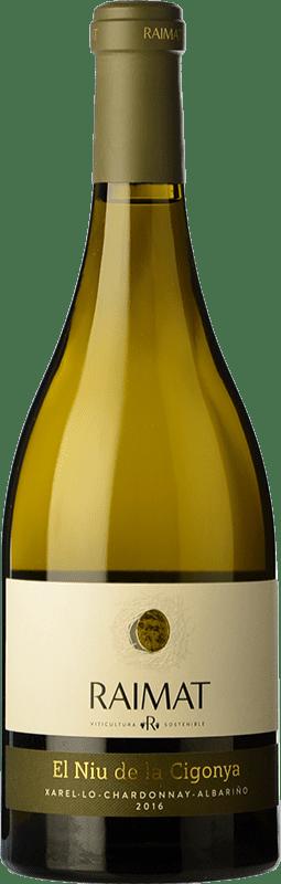 12,95 € Envoi gratuit | Vin blanc Raimat El Niu de la Cigonya Crianza D.O. Costers del Segre Catalogne Espagne Bouteille 75 cl