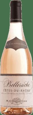 12,95 € Free Shipping | Rosé wine Chapoutier Belleruche Joven Otras A.O.C. Francia France Syrah, Grenache, Cinsault Bottle 75 cl