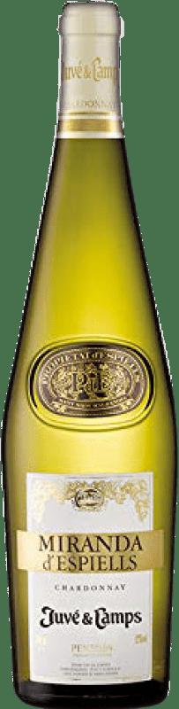 8,95 € Free Shipping | White wine Juvé y Camps Miranda d'Espiells Crianza D.O. Penedès Catalonia Spain Chardonnay Bottle 75 cl