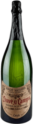 95,95 € Free Shipping | White sparkling Juvé y Camps Reserva Familiar Brut Nature Reserva D.O. Cava Catalonia Spain Macabeo, Xarel·lo, Parellada Jéroboam Bottle-Double Magnum 3 L