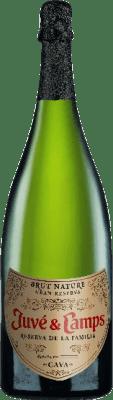 29,95 € Free Shipping | White sparkling Juvé y Camps Reserva Familiar Brut Nature Reserva D.O. Cava Catalonia Spain Macabeo, Xarel·lo, Parellada Magnum Bottle 1,5 L