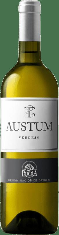 7,95 € Envoi gratuit | Vin blanc Tionio Austum Joven D.O. Rueda Castille et Leon Espagne Verdejo Bouteille 75 cl