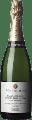 16,95 € Free Shipping | White sparkling Clos Lentiscus Blanc de Blancs Brut Nature Reserva D.O. Penedès Catalonia Spain Malvasía Bottle 75 cl