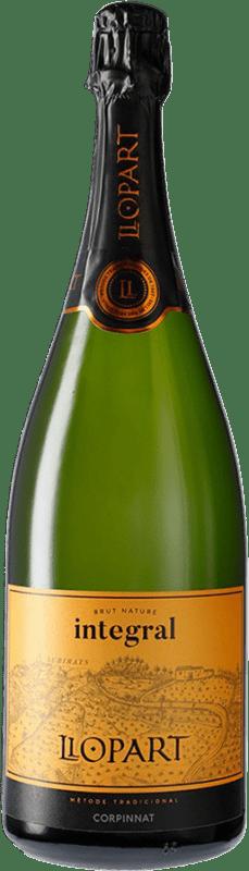 29,95 € Free Shipping | White sparkling Llopart Integral Brut Nature Reserva D.O. Cava Catalonia Spain Xarel·lo, Chardonnay, Parellada Magnum Bottle 1,5 L