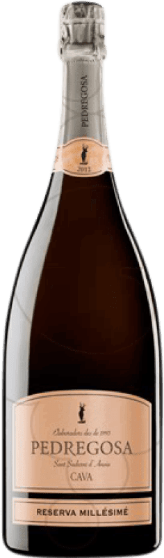 18,95 € Free Shipping | White sparkling Pedregosa Millésimé Brut Nature Reserva D.O. Cava Catalonia Spain Pinot Black, Macabeo, Chardonnay Magnum Bottle 1,5 L