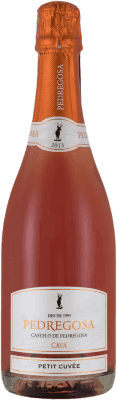 5,95 € Free Shipping | Rosé sparkling Pedregosa Petit Cuvée Brut Nature Joven D.O. Cava Catalonia Spain Pinot Black, Trepat Bottle 75 cl | Thousands of wine lovers trust us to get the best price guarantee, free shipping always and hassle-free shopping and returns.