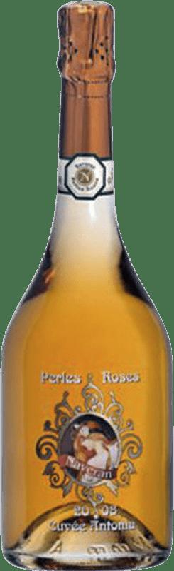 19,95 € Free Shipping | Rosé sparkling Naveran Perles Roses Brut Joven D.O. Cava Catalonia Spain Pinot Black Bottle 75 cl