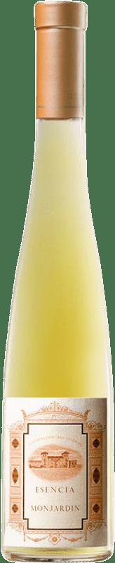 46,95 € Free Shipping | Fortified wine Castillo de Monjardín Esencia de Monjardin 2010 D.O. Navarra Navarre Spain Chardonnay Half Bottle 37 cl