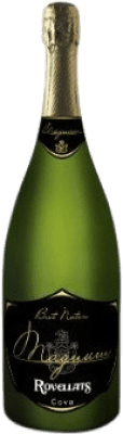19,95 € Free Shipping | White sparkling Rovellats Brut Nature Reserva D.O. Cava Catalonia Spain Macabeo, Xarel·lo, Parellada Magnum Bottle 1,5 L | Thousands of wine lovers trust us to get the best price guarantee, free shipping always and hassle-free shopping and returns.