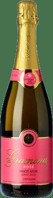 19,95 € Free Shipping | Rosé sparkling Gramona Rosé Brut Gran Reserva D.O. Cava Catalonia Spain Pinot Black Bottle 75 cl