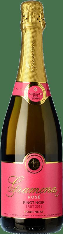 19,95 € 免费送货 | 玫瑰气泡酒 Gramona Rosé 香槟 Gran Reserva D.O. Cava 加泰罗尼亚 西班牙 Pinot Black 瓶子 75 cl
