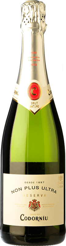 13,95 € Free Shipping | White sparkling Codorníu Non Plus Ultra Brut Nature Reserva D.O. Cava Catalonia Spain Macabeo, Xarel·lo, Chardonnay, Parellada Bottle 75 cl