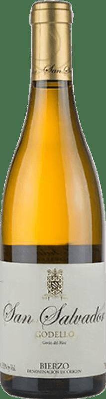 18,95 € Free Shipping | White wine Abad San Salvador Crianza D.O. Bierzo Castilla y León Spain Godello Bottle 75 cl