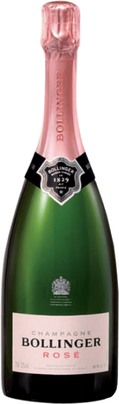 66,95 € Free Shipping | Rosé sparkling Bollinger Rosé Brut Gran Reserva A.O.C. Champagne France Pinot Black, Chardonnay, Pinot Meunier Bottle 75 cl