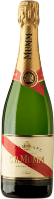 26,95 € Free Shipping | White sparkling G.H. Mumm Cordon Rouge Brut Gran Reserva A.O.C. Champagne France Pinot Black, Chardonnay, Pinot Meunier Bottle 75 cl | Thousands of wine lovers trust us to get the best price guarantee, free shipping always and hassle-free shopping and returns.