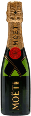 13,95 € Free Shipping | White sparkling Moët & Chandon Imperial Brut Gran Reserva A.O.C. Champagne France Pinot Black, Chardonnay, Pinot Meunier Small Bottle 20 cl