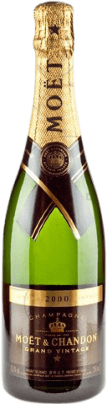 53,95 € Free Shipping | White sparkling Moët & Chandon Grand Vintage Brut Gran Reserva 2009 A.O.C. Champagne France Pinot Black, Chardonnay, Pinot Meunier Bottle 75 cl