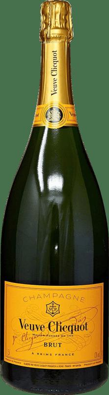 99,95 € Envoi gratuit | Blanc moussant Veuve Clicquot Carte Jeune Brut Gran Reserva A.O.C. Champagne France Pinot Noir, Chardonnay, Pinot Meunier Bouteille Magnum 1,5 L